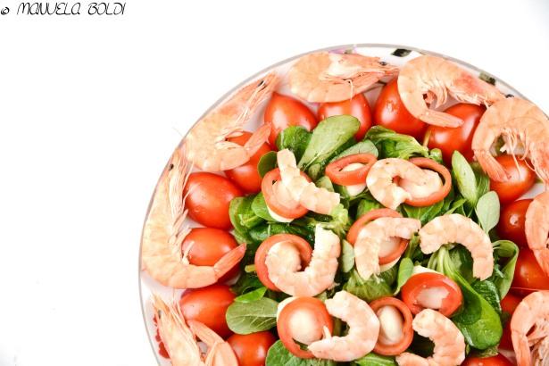 gamberi mozzarella pomodoro